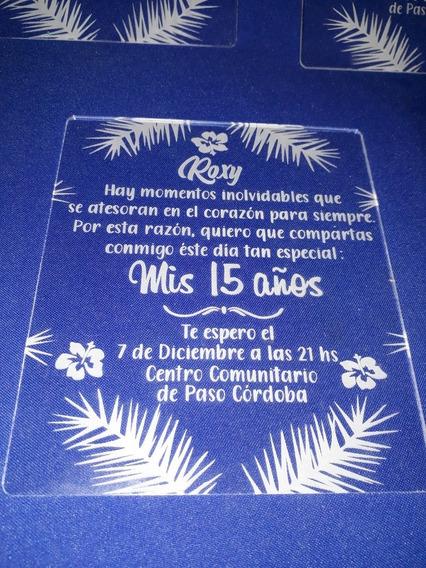 Tarjeta Souvenir Acrilico Por 75 Unidades