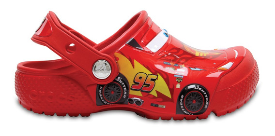 Crocs Originales Crocband Funlab Clog Cars Naranja Nene Nena