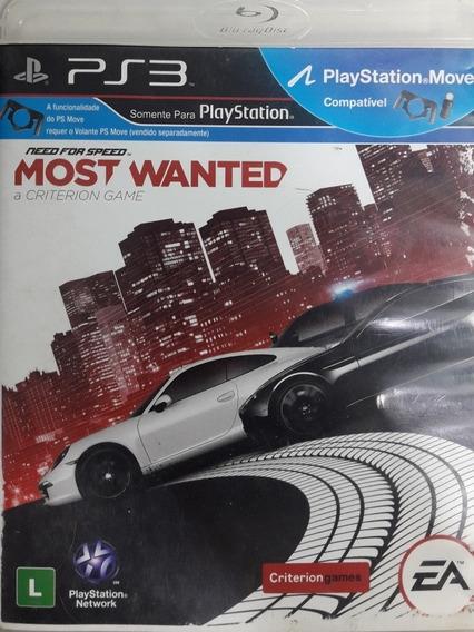 Jogo De Ps3 Need For Speed Most Wanted Em Mídia Física