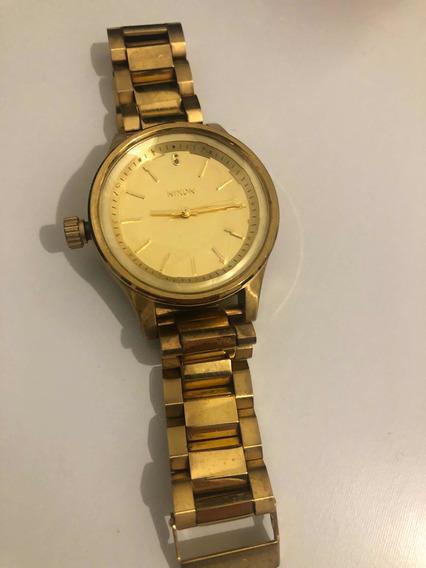 Relógio Nixon Original Modelo Dourado The Facet