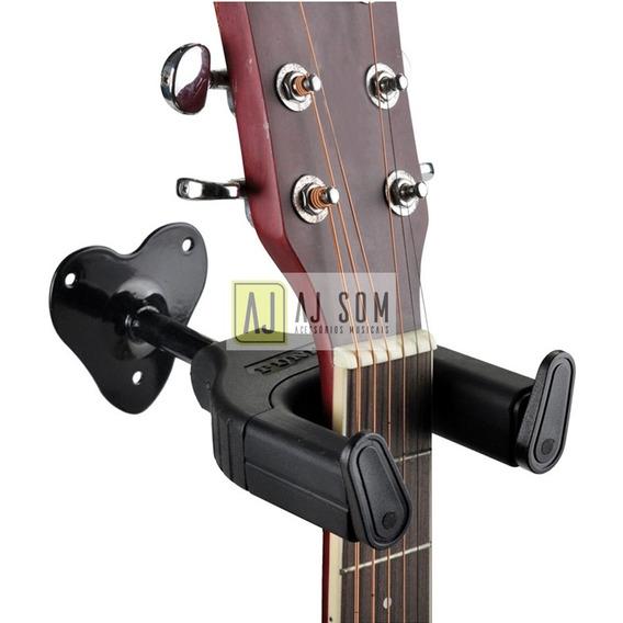Suporte Parede C/auto Trava P/instrumentos De Corda,violão