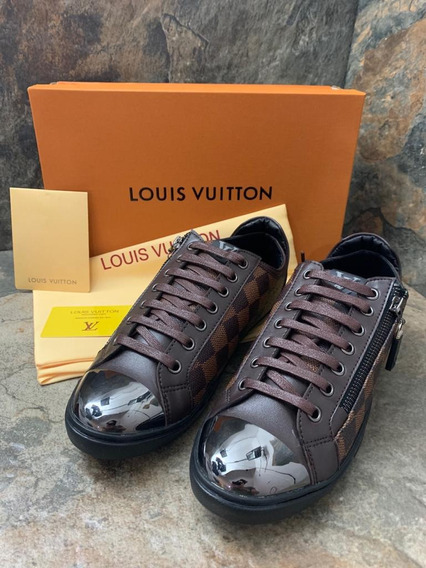 Sneakers Louis Vuitton Damier Cafe, Envío Gratis