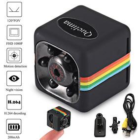Mini Câmera Espiã Quelima Sq11 + Cartão Samsung Microsd Card