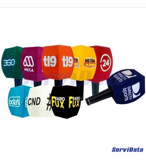 Capuchon P/ Microfono Con Logos Pack X 10 Unidades Color
