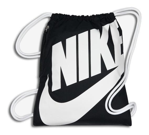 Sacola Nike Bolsa Preto Branco Original Escolar Heritage