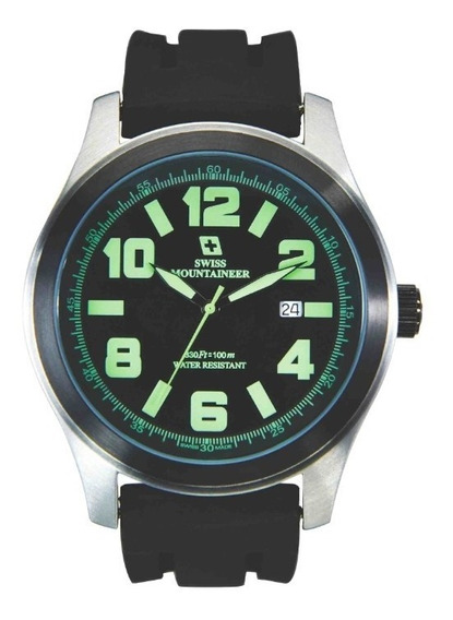 Relogio Suiço Watch Swiss Mountaineer Sml8042 48mm
