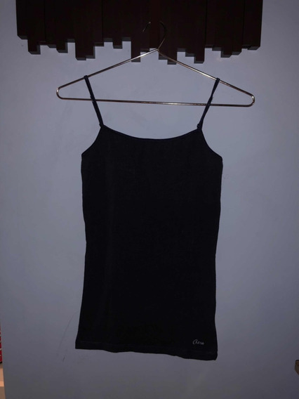 Remera Básica Musculosa Mujer Talle S Aeropostale Azul Oscur