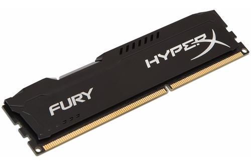 Imagen 1 de 1 de Memoria Ram Hyperx Fury Black, 8gb, Ddr3, 1600 Mhz, Cl10