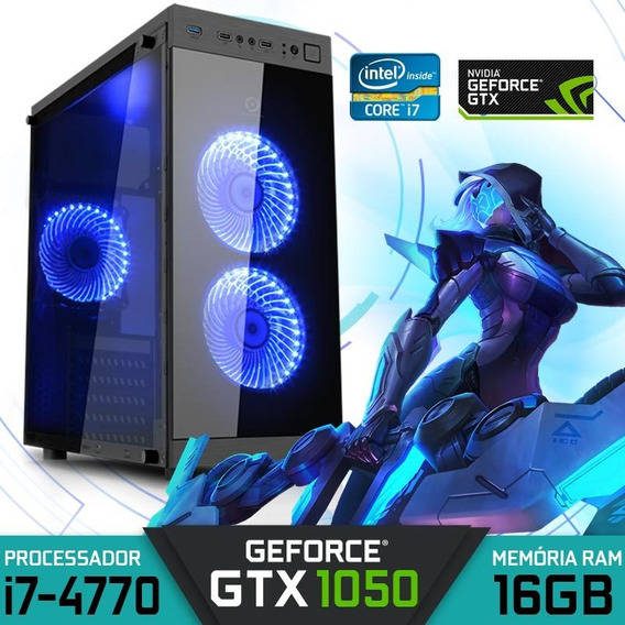 Computador Gamer Intel Core I7-4770 Ram 16gb Gtx 1050 2gb
