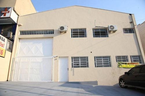 Barracão Para Alugar, 390 M² Por R$ 5.200,00/mês - Vila Mimosa - Campinas/sp - Ba0046