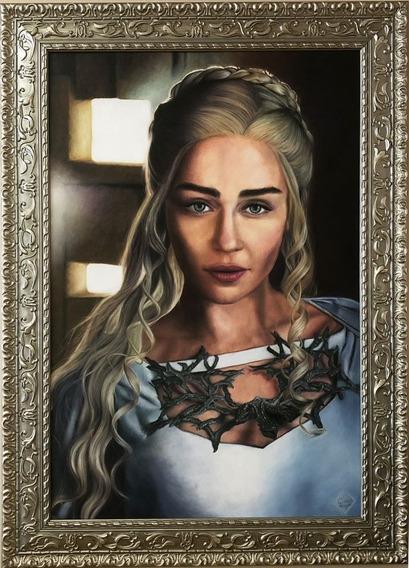 Obra De Arte Daenerys Targaryen Game Of Thrones | Pintura