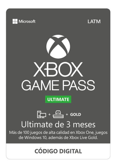 Xbox Game Pass Ultimate 3 Meses Código Digital