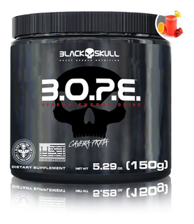 B.o.p.e. Pré Treino Bope 150g Caveira Preta - Black Skull