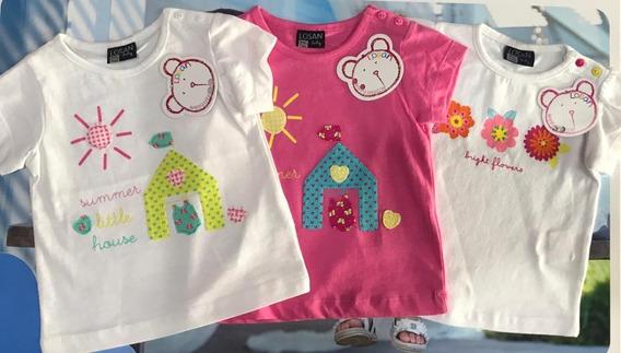 Set De 3 Camisetas De Bebé (niña)