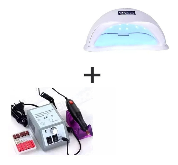 Cabine Led Uv Sun 5 48w + Lixadeira Elétrica M2000 Bivolt