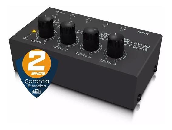 Amplificador Estéreo Fone De Ouvido Behringer Ha 400 Preto