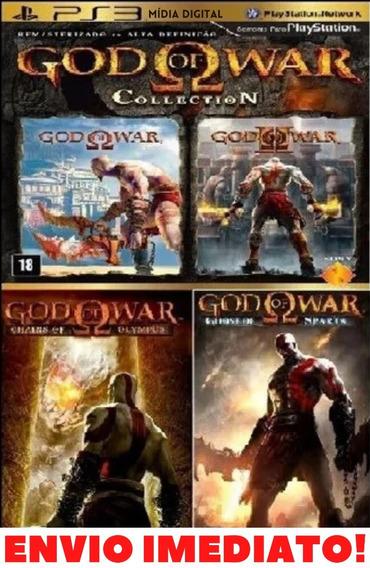 Deus Da Guerra 1 + 2 + Olympus + Ghost Of Sparta Psn Enviojá