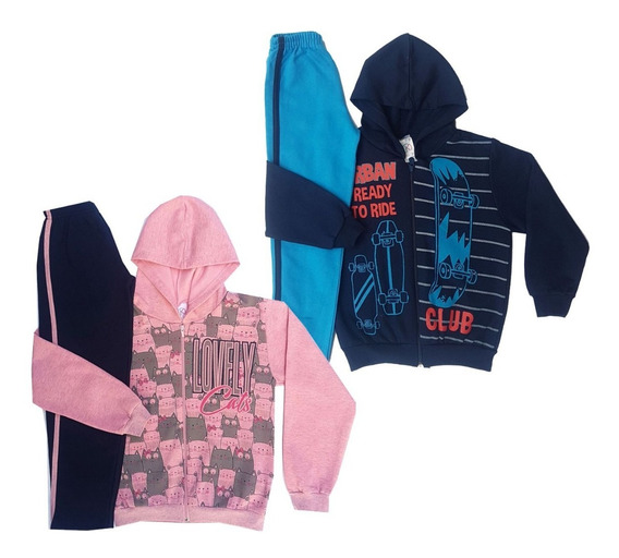 Roupa Infantil Kit Com 4 Conjunto Feminino Masculino 1 Ao 14