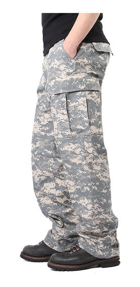 Pantalon Militar Para Niño Digital Cemento Pixelado Acu