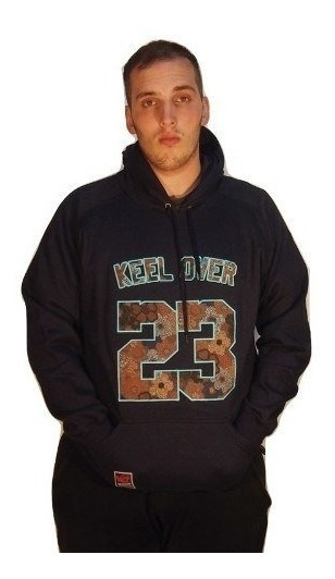Buzo Hombre Hoodie Canguro Keel Over Spring Azul