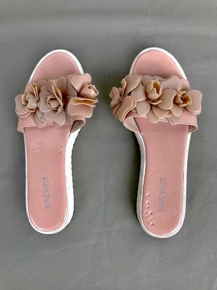 Sandalias Nine West Rosa Con Flor