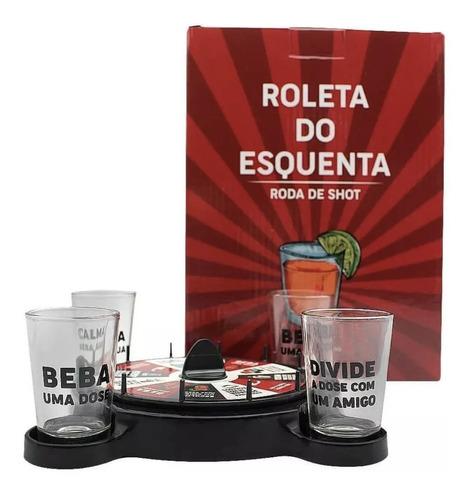 Imagem 1 de 3 de Drinks Jogo Roleta C/ 4 Shots - Esquenta Amigos Tequila