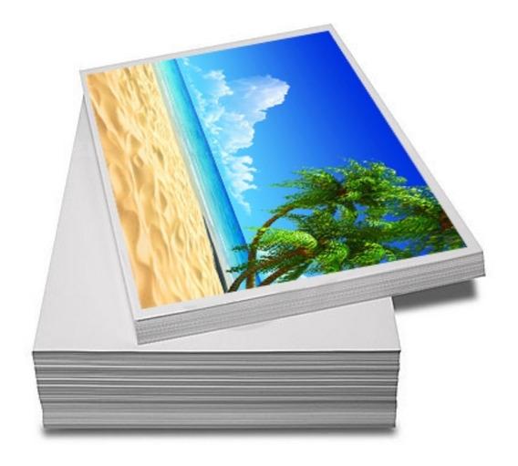 200 Fls Papel Fotográfico Adesivo A4 Glossy Brilhante 135 Gr