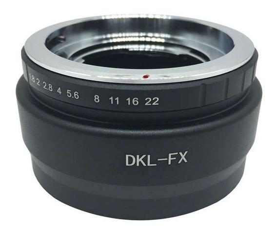 Anel Adaptador Lente Voigtlander Retina Dkl-fx Fuji X-e1 Xe2