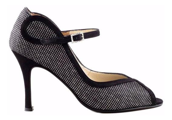 Zapato Cuero Mujer Briganti De Vestir Taco Negro Mccz03461