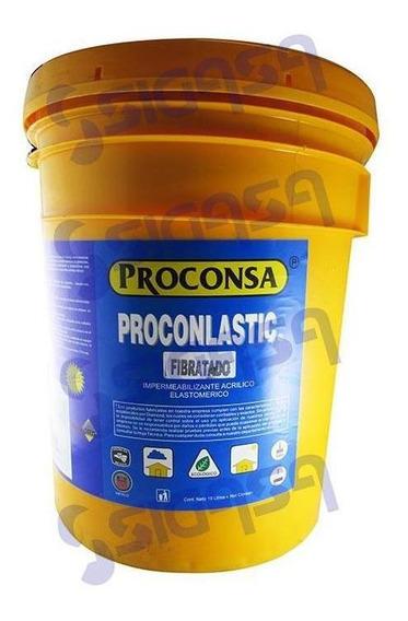 Impermeabilizante Acrilico Rojo 19 Lts. F5 Con Fibra Proconl