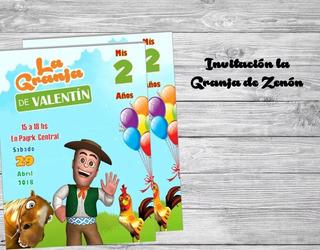 Tarjetas De Invitacion La Granja Zenon Souvenirs Cotillón