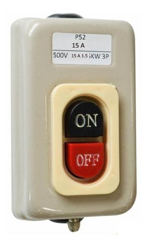 Interruptor Switche Start Stop 15 Amperios Trifásico