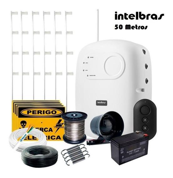 Kit Cerca Elétrica Residencial Intelbras C/ Alarme 50 Metros