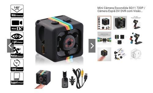 Mini Camera Espiã Sq11 Sensor De Movimento Dvr Visão Noturna