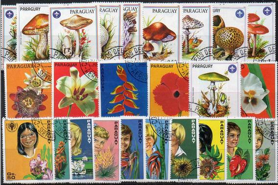 Paraguay - Flora - 5 Series Usadas Completas (33)