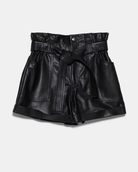 Short Zara Original Cuerina - Ropa Dama