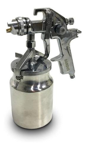 Imagen 1 de 3 de Pistola De Pintar Alta Presión Tacho De Aluminio 1 Lt Barovo