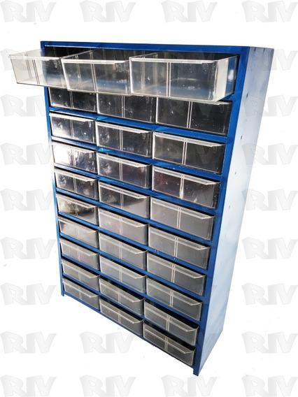 Organizador Metalico Multiusos 30 Gavetas Transparentes E11