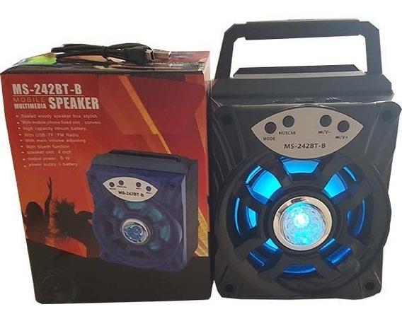 Caixa De Som Mobile Speaker System Com Bluetooth Ms-242bt-b