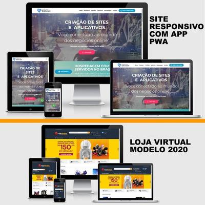 Criação De Site Com Painel Admin, + Seo + Hospedagem + App