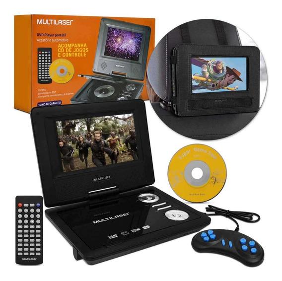 Dvd Player Portatil Carro Casa 7