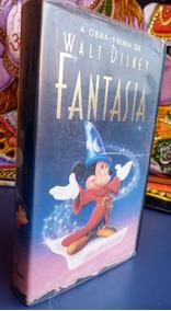 Clássico Disney Fantasia Mickey Vhs Raro Desenho História Dc