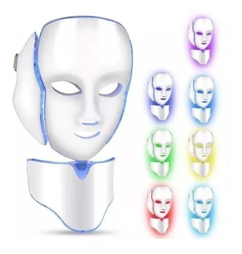 Mascara Facial Led Completa Tratamiento Cara Cuello Belleza