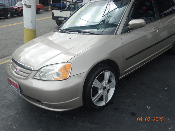Honda Civic Lx 1.7 2001 Completo