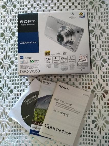 Câmera Digital Sony Cyber-shot Dsc-w360 + Cartão