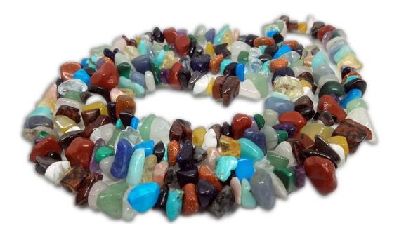 Colar De Cascalho Cigano Diversos Tipos De Pedras Naturais