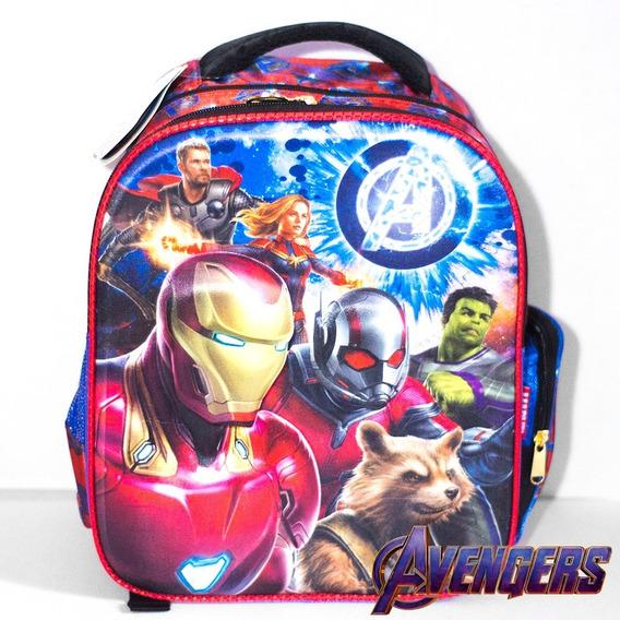 Mochila 3d Prescolar Kinder Avengers Original De Correas
