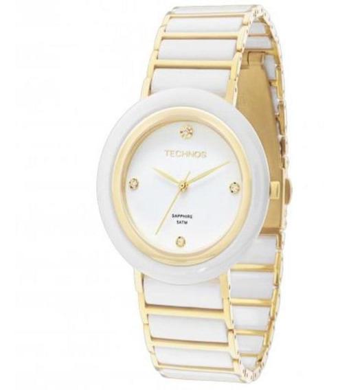 Relógio Technos Feminino Classic Cerâmica Bicolor 2036lnd/4b