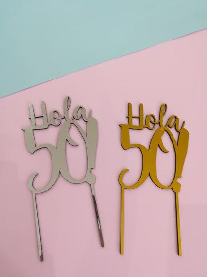 Caketopper 50 Años Adorno Para Torta
