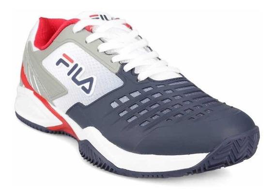Zapatillas Fila Axilus 2 Energize Tenis Padel, Blanco Y Azul